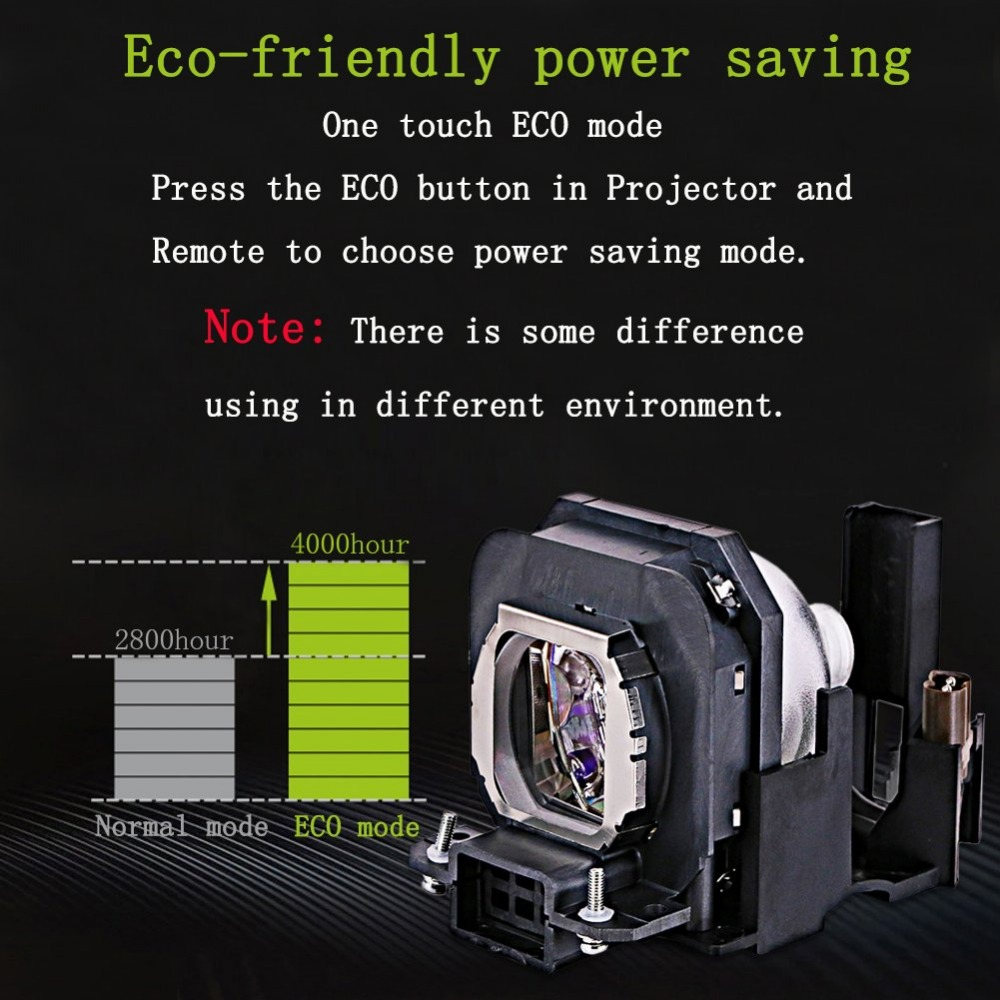 Lampe de projecteur ampoule ET-LAX100 pour PANASONIC PT-AX100 PT-AX100E PT-AX100U TH-AX100 PT-AX200 PT-AX200E PT-AX200U avec boîtier - 4