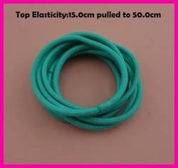 50 шт. мм 3 мм топ эластичность Бирюзовый эластичная резинка для волос держатели веревка с клеевое соединение, бесшовные эластичные волосы