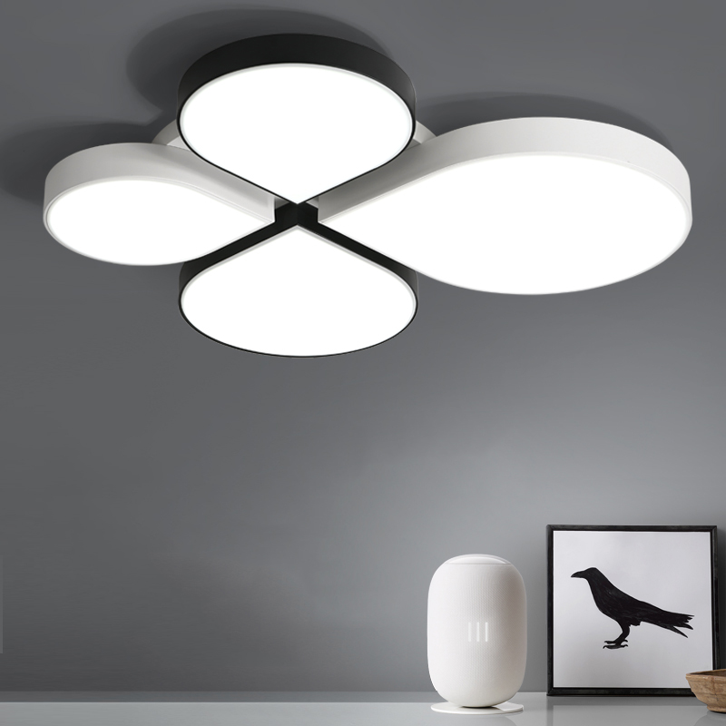 White Black LED ceiling lighting ceiling lamps for the living room bedroom chandeliers Ceiling for the hall modern ceiling lamp noosion modern led ceiling lamp for bedroom room black and white color with crystal plafon techo iluminacion lustre de plafond