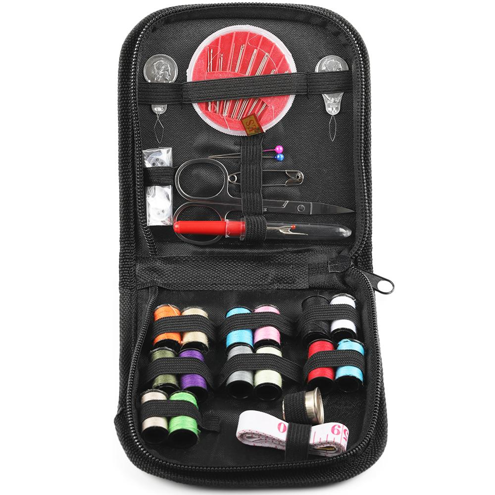 Sewing-Accessories Case Square Modern Portable Home Canvas Travel Multifunction 1set