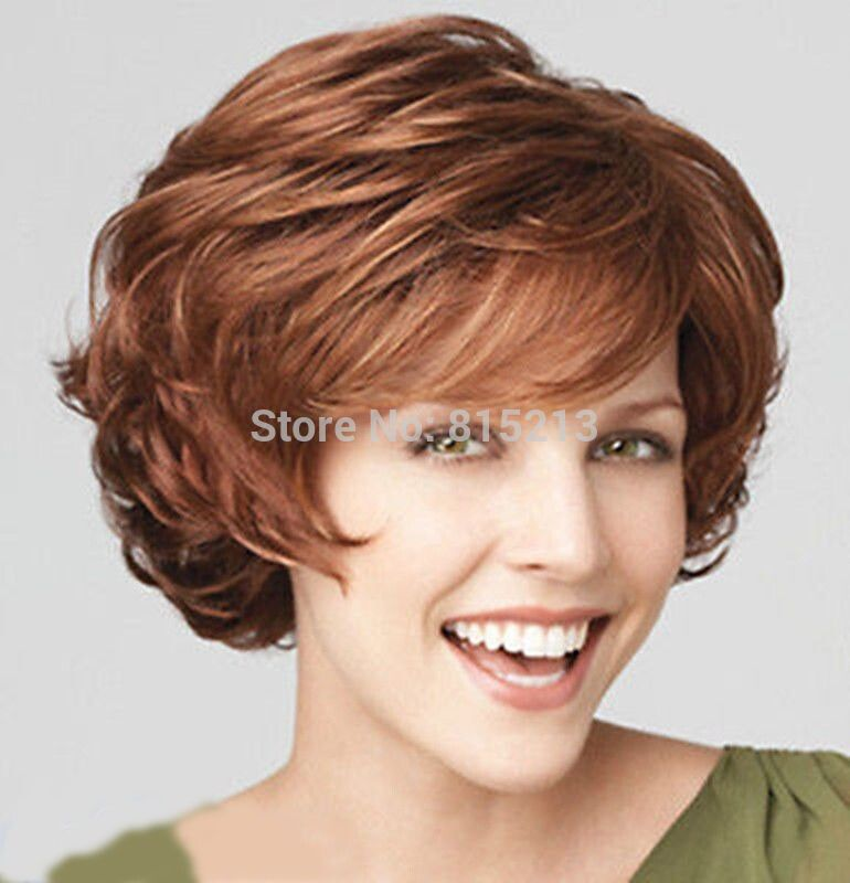 Women Ladies peruca hair queen cosplay dd008800 Fashion Charm ladies short mix Brown Blonde Natural Hair Full wigs+wig cap (D Sp s