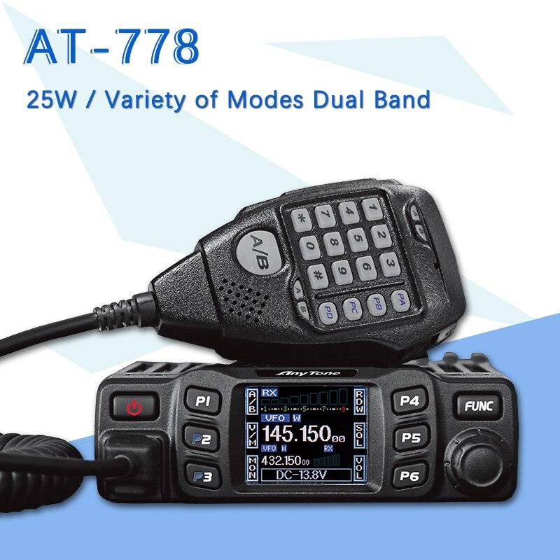 Convient pour AnyTone AT-778UV Double Bande Émetteur-Récepteur Radio Mobile VHF/UHF à Deux Voies Radio 200 Canaux 5 W Puissance autoradio
