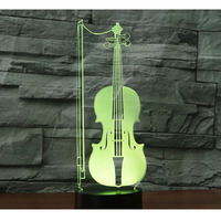 3D LED Night Light Cello Violoncello Music With 7 Colors Light For Home Decoration Lamp Amazing