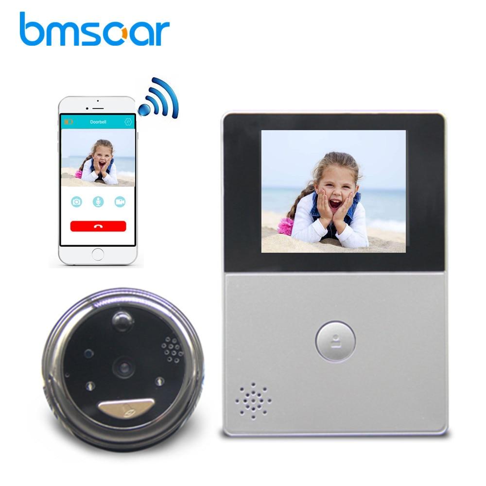 Wireless WiFi Battery Peephole Doorbell 720P Security Cloud Storage PIR Night Vision Video Door Bell Intercom Video Doorbell