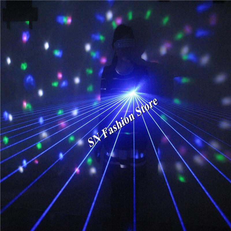LS802 New 40 laser Rays/beams 1pcs laser head /Blue laser light gloves ballroom dance dj gloves stage show party bar supplies