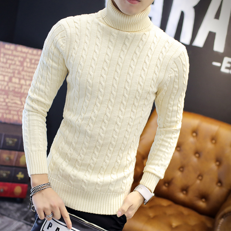 Freely Mens Fit Knit Crew Neck Long Sleeve Pullover Thickened Sweater