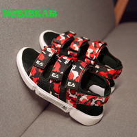 New Trend Sandals for Boy Kids Mesh (Air Mesh) Camouflage Sandals for Boy Hook & Loop Summer Young Beach Sneakers Boy Sandals