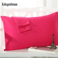 Kekegentleman 1 Pair 45 72cm Solid Pillowcase Pillow Cover Pillow Case Color Optional 12 Colors