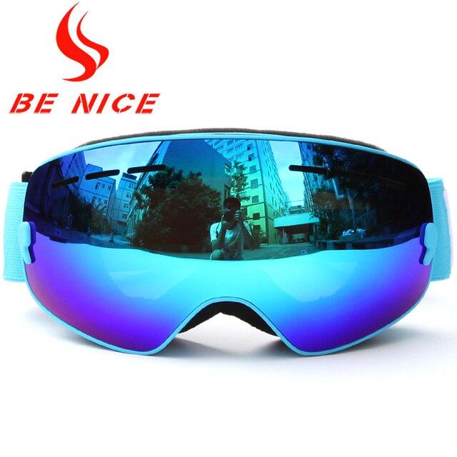 cb07f8f5780 Benice Kids Ski Goggles Small Size for Children Double UV400 Anti-fog Mask Glasses  Skiing Girls Boys Snowboard Goggle Lens Poins