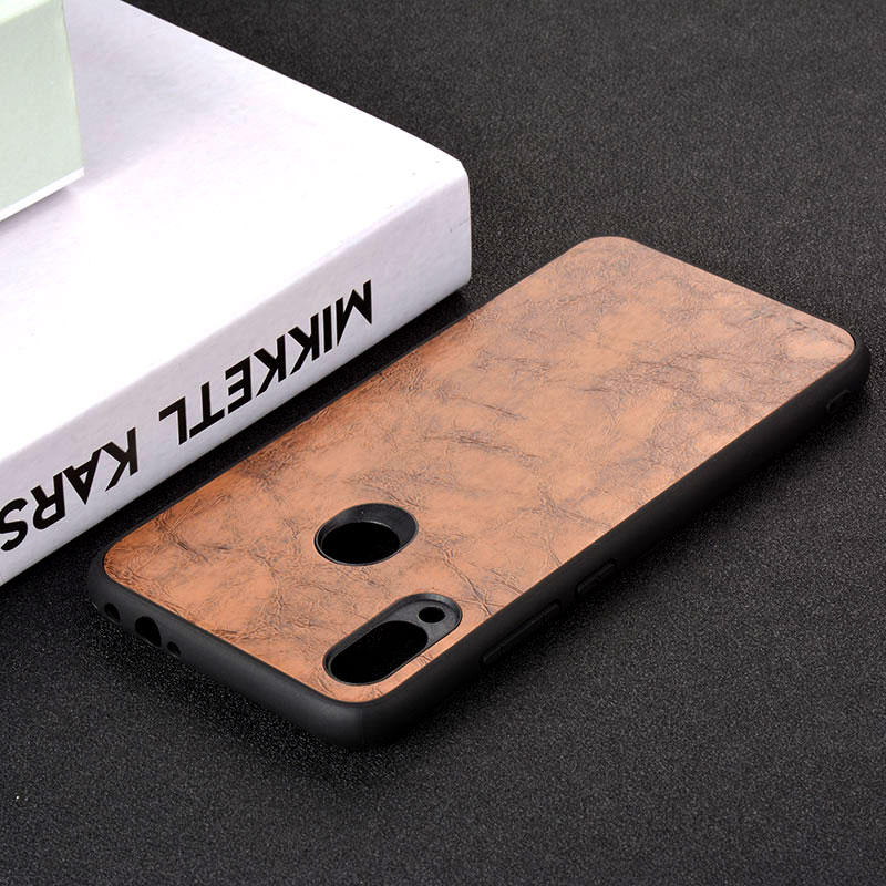 Case for Xiaomi Redmi Note Note 5 6 6A 7 Pro S2 funda luxury Vintage Leather phone case skin TPU PC capa cover coque in Fitted Cases from Cellphones Telecommunications