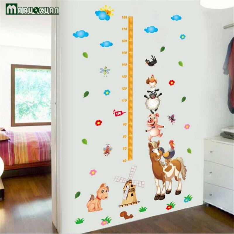 cartoon weiland dier combinatie sticker body hoogte plakken kamer slaapkamer sticker tv achtergrond wanddecoratie stickers in cartoon weiland dier