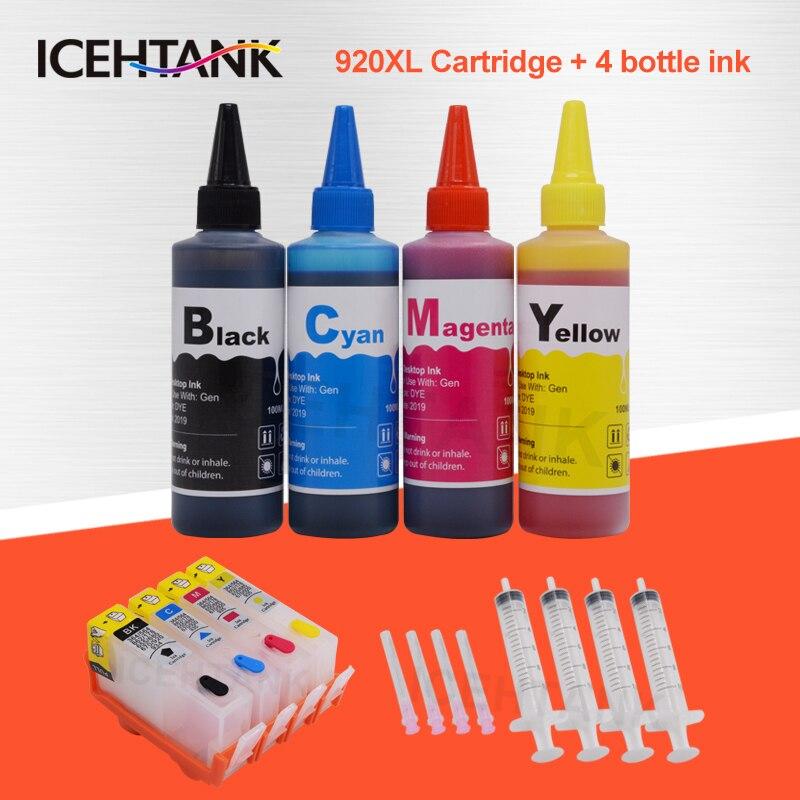 ICEHTANK 920XL Refill Ink font b Cartridge b font For HP 920 Officejet 6000 7000 6500
