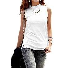 New Women Summer Autumn Sleeveless Solid Color Women Tops & Tees Cotton Women t Shirts