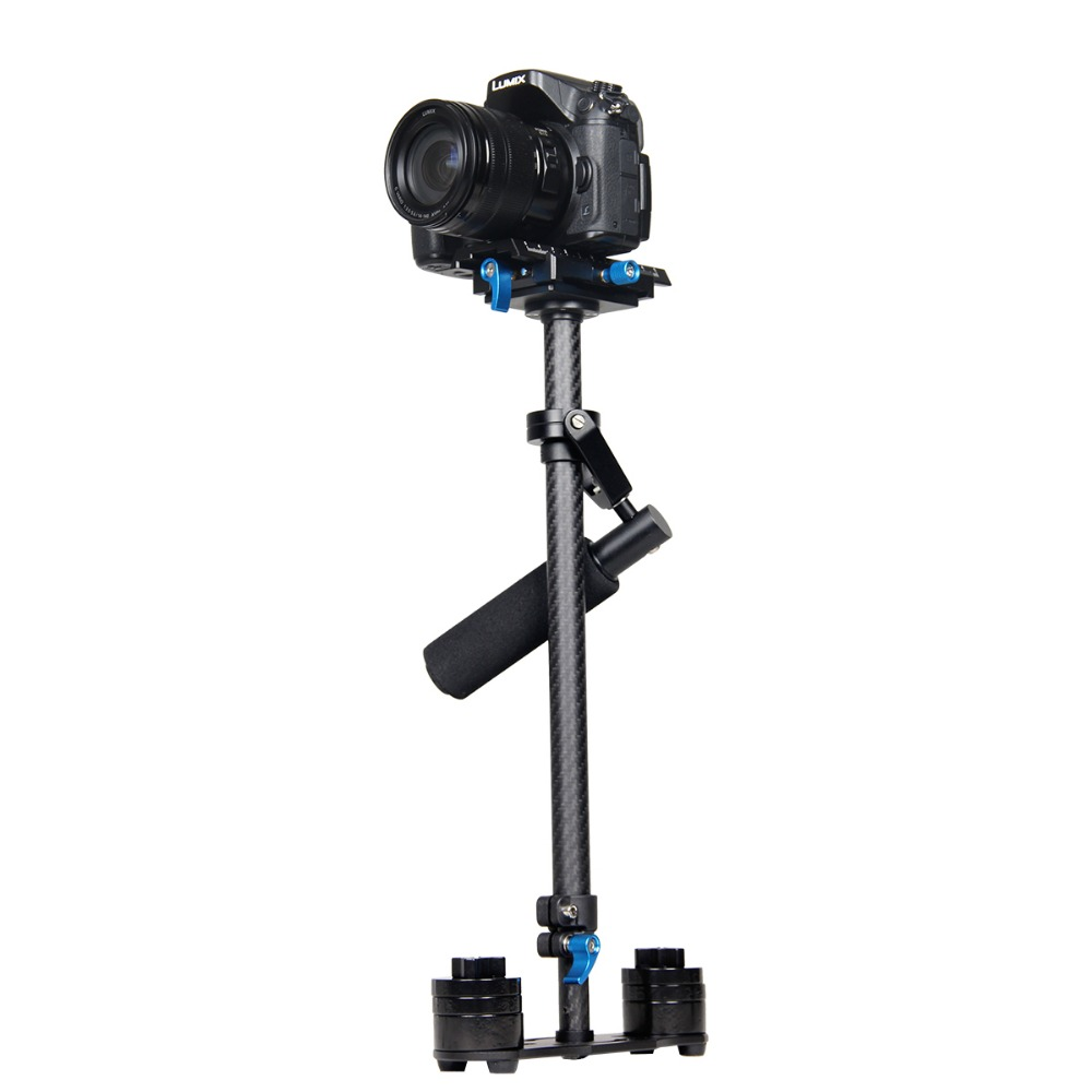 Professionnel Fiber De Carbone Dslr Stabilisateur Vidéo Steadycam Caméscope Cam Steady Glidecam Cinéma Système pour DSLR DV