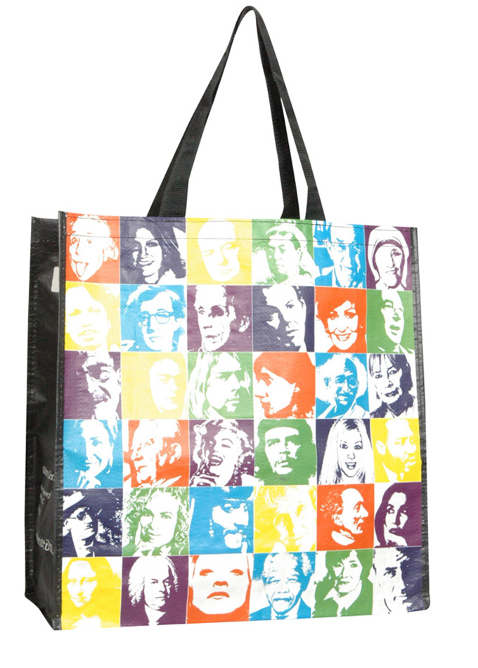 Full color PP matt lamination promotional PP woven shopping bags tote bags gift bags