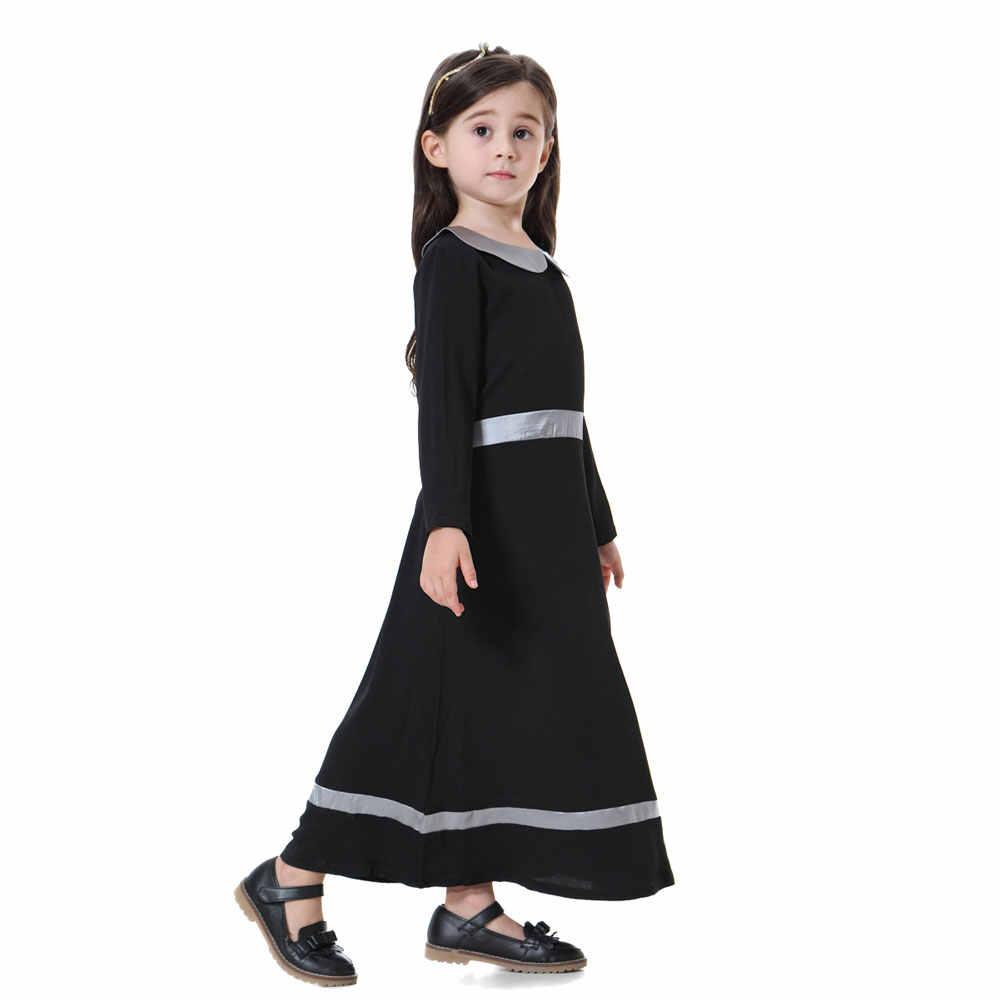 Элегантные эластичные мусульманские Девушки Макси платье с поясом Малайзия caftan исламские свободные платья абайя в арабском стиле Дубай негабаритных thobes VKDR1358