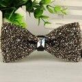 SHENNAIWEI Rhinestone bowtie moda 2016 cinza Escuro cristal e diamante jóia arco gravata borboleta frete grátis