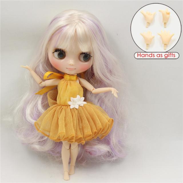 ICY Middie Blythe Doll Cream Purple Hair Regular Body 20cm