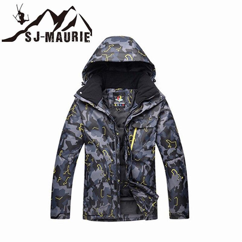 Veste de Ski homme veste de Snowboard Camouflage combinaison de Ski hiver imperméable coupe-vent veste de chasse d'hiver - 4