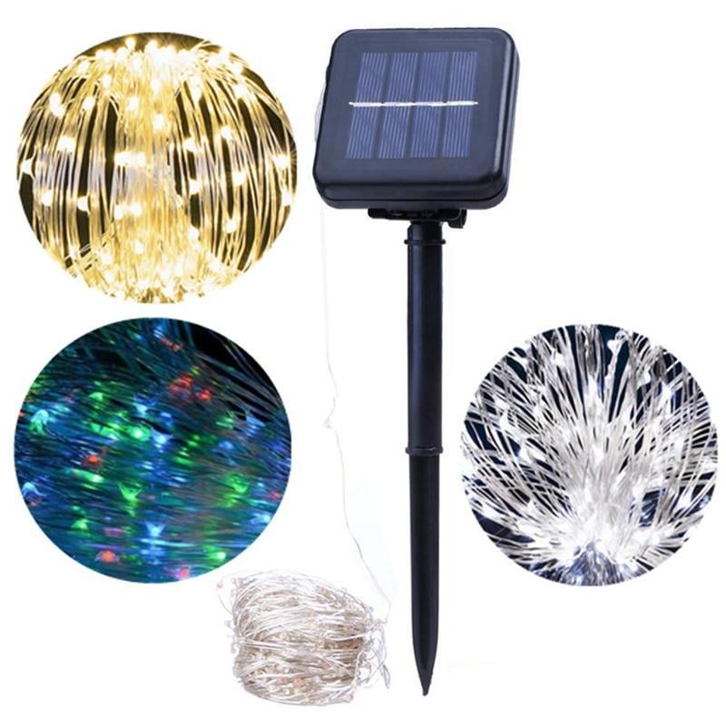 Copper Wire 20M 200 LED Solar Power LED String Light Christmas LED Fairy Light Party Wedding Holiday Light Lamp DC24V