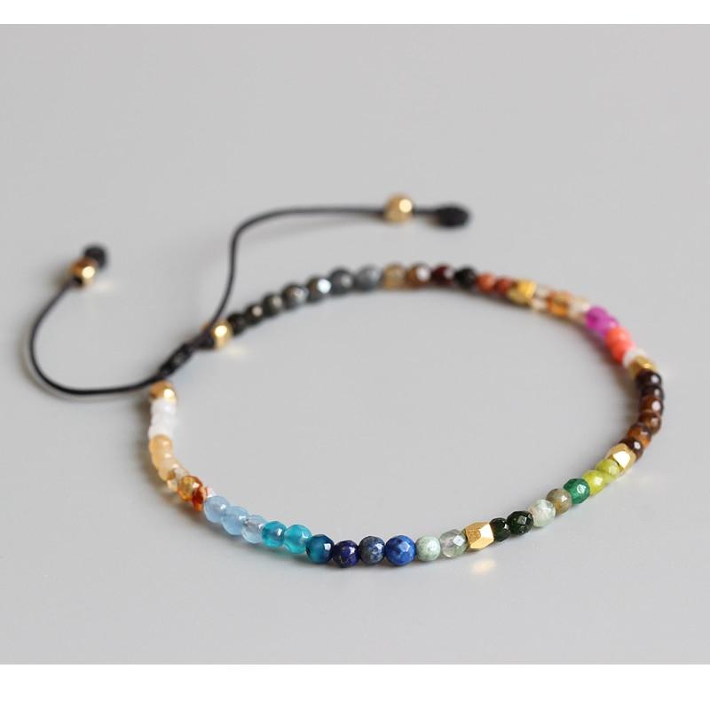 Eastisan 12 Constellation Lucky Stone Simple Bracelet 3mm Beads ...