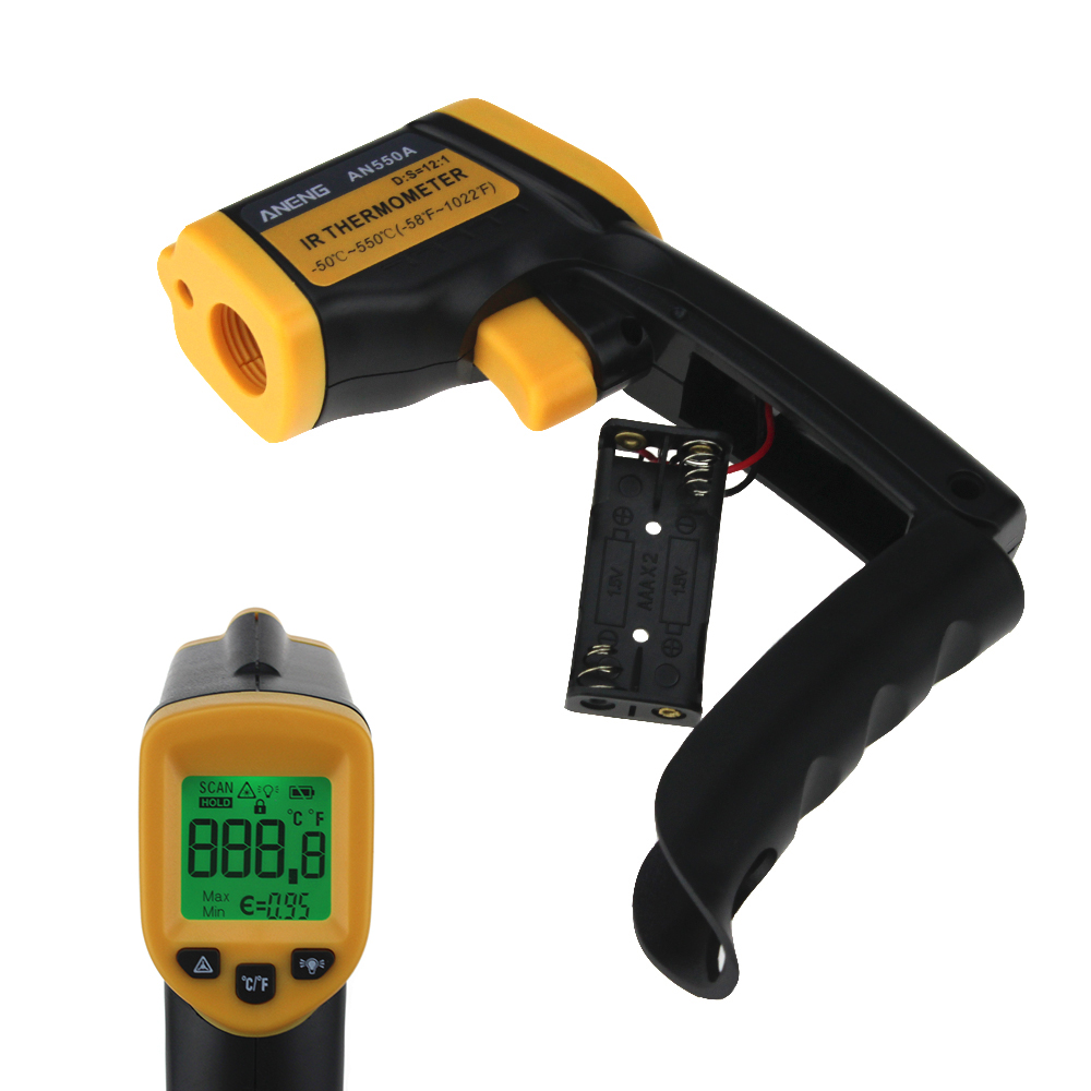 AN550A LDC IR -50~550 C Non-Contact IR thermal camera infrared thermometer hygrometer weather station temperature controller 6 image