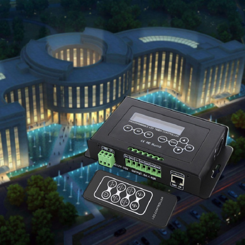 RGB RGBW Tape Controller programmable Timer BC 300 DC12V 36V Time programmable LED Controller Light DMX 512 Controller - 2