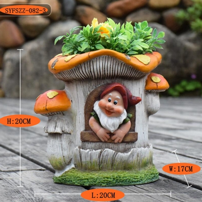 Kindergarten flower pot ornament (4)