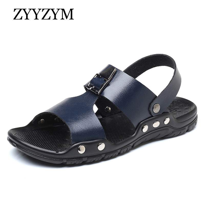 ZYYZYM Men Sandals Summer Non-slip Ventilation Fashion Trend Casual Beach Men Shoes Large sizeZYYZYM Men Sandals Summer Non-slip Ventilation Fashion Trend Casual Beach Men Shoes Large size
