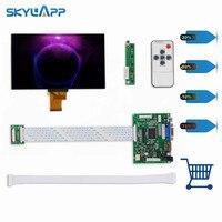 Skylarpu 7''Inch 40 pins 1024*600 TFT LCD Screen EJ070NA 01J With Remote Driver Control Board 2AV HDMI VGA for Raspberry Pi set