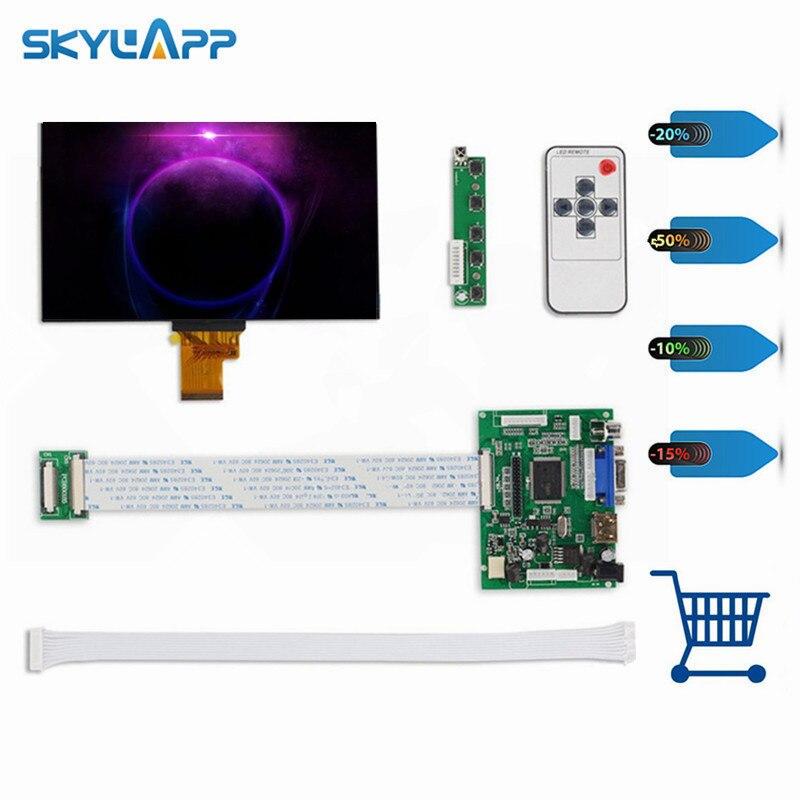 Skylarpu 7''Inch 40 broches 1024*600 TFT LCD écran EJ070NA-01J avec télécommande carte de contrôle 2AV HDMI VGA pour Raspberry Pi set