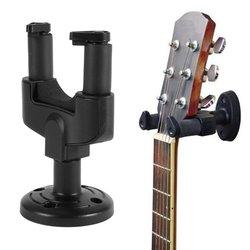 Correa de pared de guitarra eléctrica negra soporte gancho de estante para montar todos los accesorios de tamaño conjuntos accesorios de guitarra de arquitectura