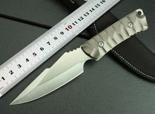 100%NEW Free Shipping SJ-K605 Small Straight Knife easy to carry useful outdoor camping knife with Aliminum Handle