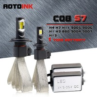 AOTOINK 2Pcs COB H7 H4 Led H11 H1 H8 H11 Bulb Car Headlights Auto Led Fog