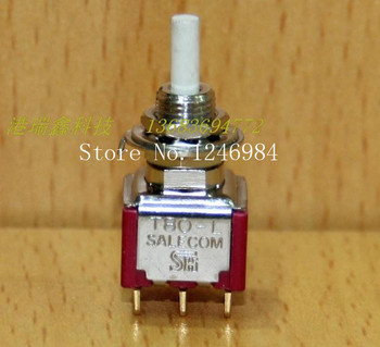 [SA]L8602 lockable dual gold-plated six feet M6.2 small toggle button to switch normally open and normally closed T80 Taiwan SH-