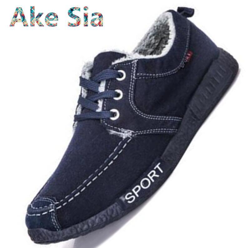 0 Winter Warm Halten Baumwolle Flach Stoff Mode Schuhe Männer Spitze Schuhe Dicken Boden Männer Casual Schuhe #532 GroßE Auswahl;