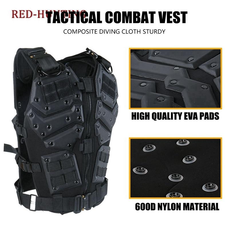 Molle Tactische Vest Combat TF3 Body Vest Protector Black Training Vest