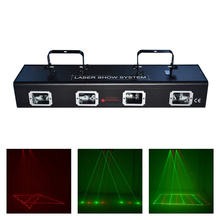 AUCD Pro Beam Ray Scanner 4 Lens Double Red Green Laser Lights Xmas DJ Disco Party 9 CH DMX Projector Show Stage Lighting 505RG aucd outdoor indoor green red rg laser projector lights landscape garden yard home party xmas buried lighting od 100rg