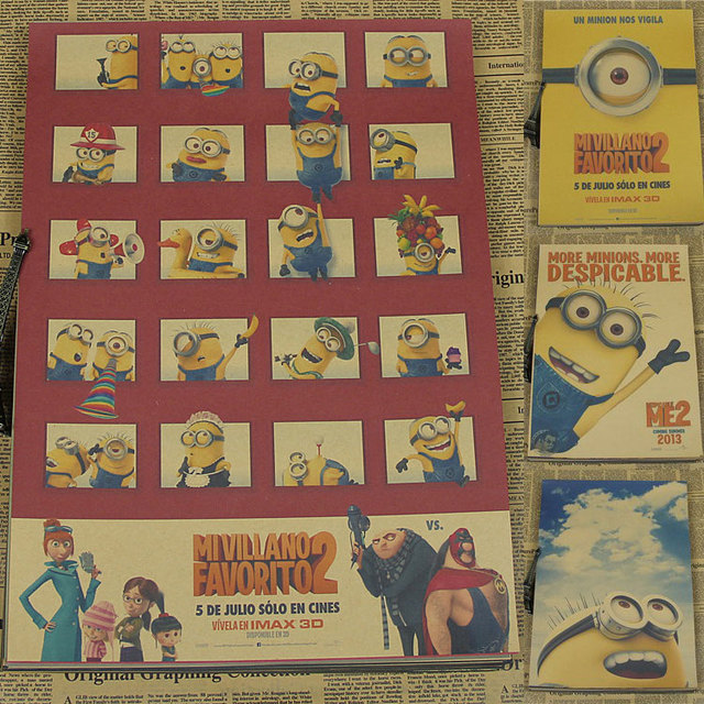 Kleine gelbe menschen bedeuten, mein cartoon movie poster ...
