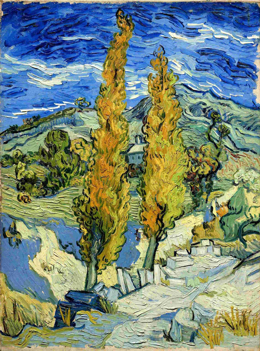 Cuadros De Vangoh Us 14 43 2015 Cuadros Decor Vincent Van Gogh Two Trees Oil Painting On Canvas Home Decoration For Living Room Wall Art Painting In Painting