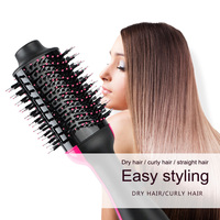 Professional Salon Hair Dryer Volumizer Comb Multi function Negative Ion Generator Hair Curler Straightener Brush Hair Comb
