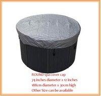 Forma rotonda vasca idromassaggio calotta di copertura prevenire neve, pioggia e polvere, OD: 1880mm x 300mm (H), può personalizzare spa, swim spa sacchetto della copertura