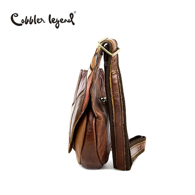 Cobbler Legend Brand Design 2016 Genuine Leather Bag Chest Pack Women's Messenger Bag Vintage Shoulder Bags bolso de las mujeres