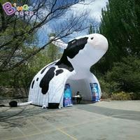 6 м большая молочная рекламная палатка, воздушная Структура типа надувная Доильная корова палатка туннель, палатка игрушка для животных