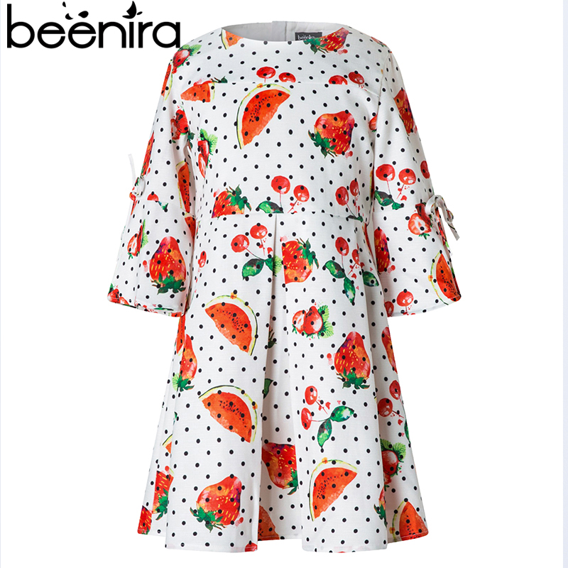 Beenira Girls Autumn Dress 2017 Brand European And American Style Kids Long-Sleeve Princess Dresses For 4-14Y Kids Girls Dresses beenira girls dress 2017 new european and american style kids printed pattern long sleeve dress for 4 14y children autumn dress
