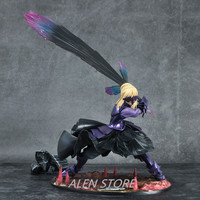 Action figure Fate/stay night Black Saber cartoon doll PVC 18cm box packed japanese figurine world anime