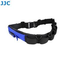 Jjc cinto para lente de câmera, cinto utilitário para fotografia, ajustável, para canon nikon olympus sony pentax