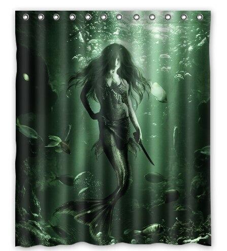 Art Sexy Mermaid Custom Personalized Waterproof 180x180cm Shower Curtain  Bathroom Products Bath Curtains