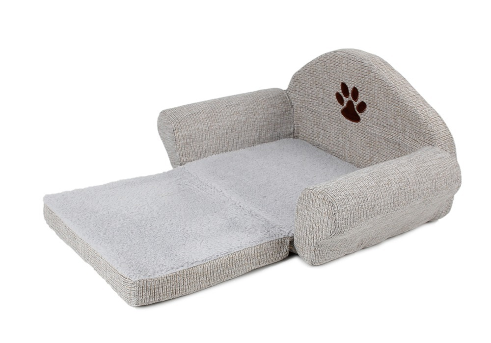 buy dog bed pet soft kennel cute paw design pet sofa gray dog sofa dog cat house winter for pet great quality from reliable