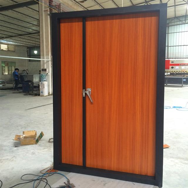 modern bedroom soundproof steel wooden door design-in ...